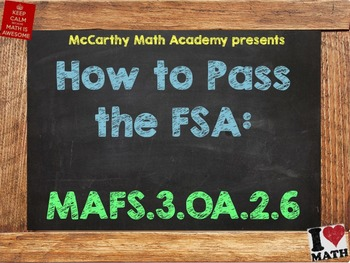 How to Pass the Math FSA - Division Unknown Factor - MAFS.