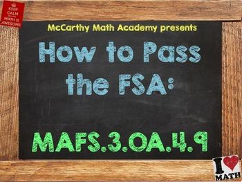 How to Pass the Math FSA - Patterns - MAFS.3.OA.4.9 (Test Prep)