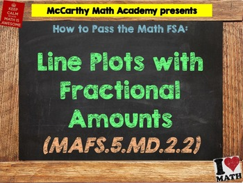 How to Pass the Math FSA - Line Plots with Fractional Amou