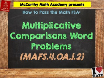How to Pass the Math FSA - Mult. Comparisons Word Problems