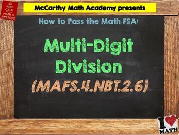 How to Pass the Math FSA - Multi-Digit Division - MAFS.4.N