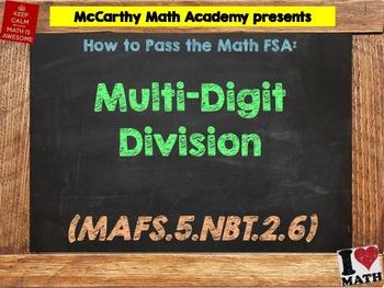 How to Pass the Math FSA - Multi-Digit Division - MAFS.5.N