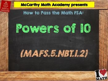How to Pass the Math FSA - Powers of 10 - MAFS.5.NBT.1.2 (