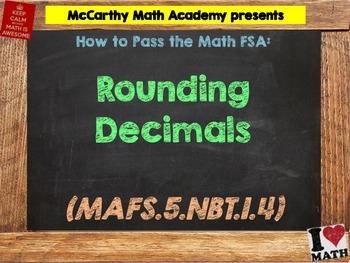 How to Pass the Math FSA - Rounding Decimals - MAFS.5.NBT.