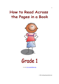 How to Read Across the Pages in a Book: Introduce/Practice/Assess