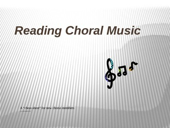 How to Read Choral Music (for beginners to keep up with th