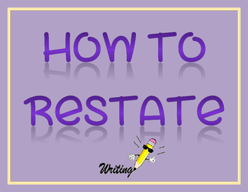 How to Restate Bulletin Board Set
