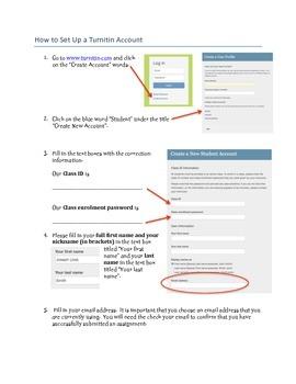 How to Set up a Turnitin.com Account