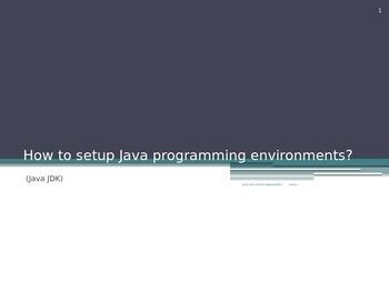How to Setup Java Programming Environments