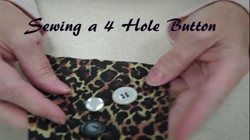 How to Sew a 4-Hole Button