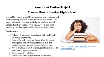 MOAC Powerpoint 2013 Lessons 1-4 Review Project - How to S