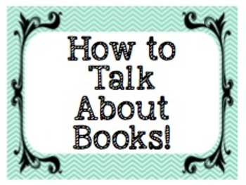 How to Talk About Books! 11 posters to get your students c