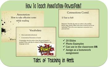 How to Teach Annotation-PowerPoint