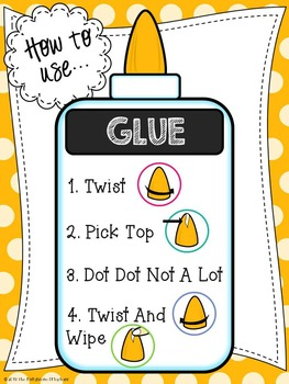 How to Use Glue Poster