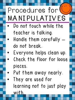 How to Use Manipulatives Poster