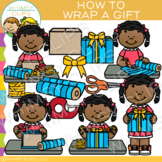 How to Wrap a Gift Clip Art