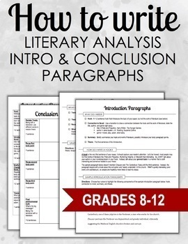 How to Write Intro & Conclusion Paragraphs (Literary Analy