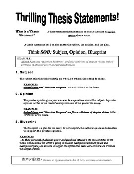 How to Write Thrilling Thesis Statements