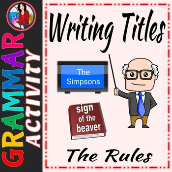 How to Write Titles, Rules for Capitalization, Underlining