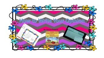 How to Write Your Opinion