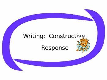 How to Write a Constructive Response
