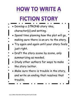 How to Write a Fiction Story Achor Chart
