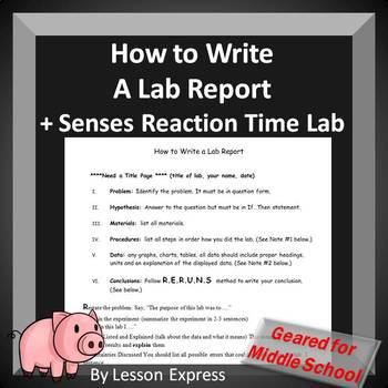 How to Write a Lab Report: Guidelines Middle School Students