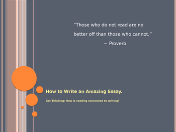 How to Write an Amazing Essay