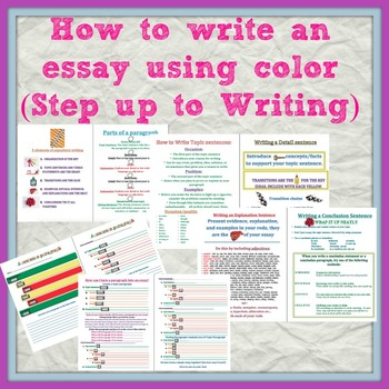 How to Write an Essay using Step up to Writing