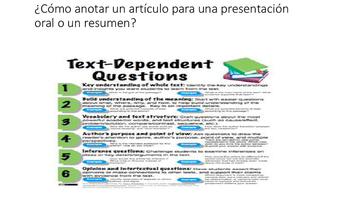 How to annotate an article (Spanish)