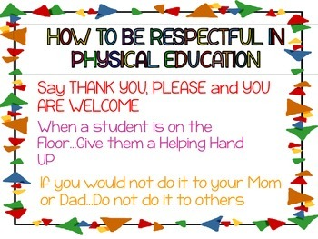 How to be Respectful in Physical Education