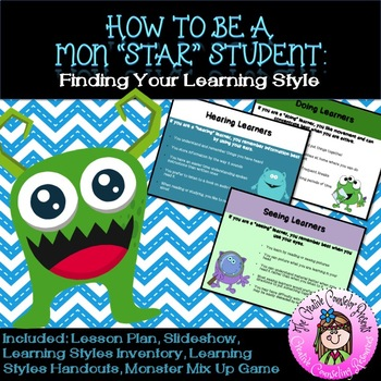 """How to be a Mon""""STAR"""" Student: Learning Styles Monster Gui"""