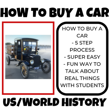 How to buy a car? 10th 11th 12th grade