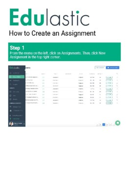 How to create an Assignment for your Class on Edulastic