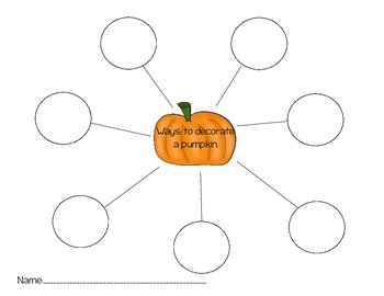 How to decorate a pumpkin writing activity