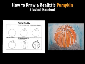 How to draw a realistic pumpkin fall student printable han