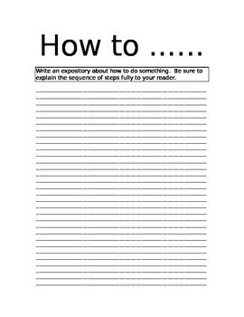 How to expository