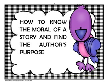 How to find the Moral and Author's Purpose of a Story