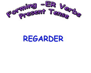 How to form Regular -ER Verbs in Present Tense in French A