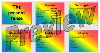 How to form the present tense