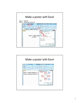 How to make a poster using Excel