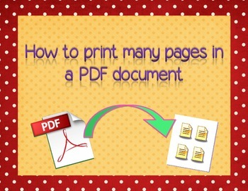 How to print many sheets in one page - PDF tutorial