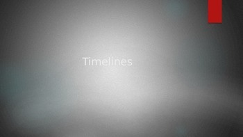 How to read a timeline lesson and activity