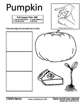 How to sign PUMPKIN, ASL. Seed planting, grow garden/food