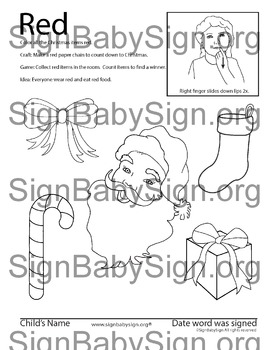 How to sign color Red, ASL Christmas & free weekly