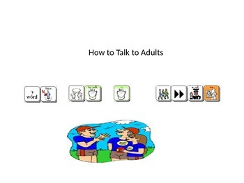 How to talk to adults social story Unity 84 sequenced