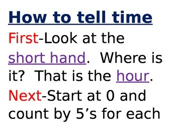 How to tell time posters