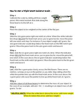 How to use a Triple Beam Balance Scale Directions