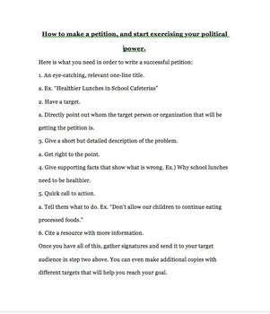 How to write a petition