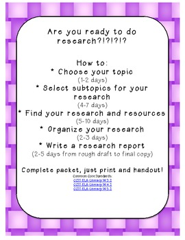 How to write a research report! Complete pack from topic t